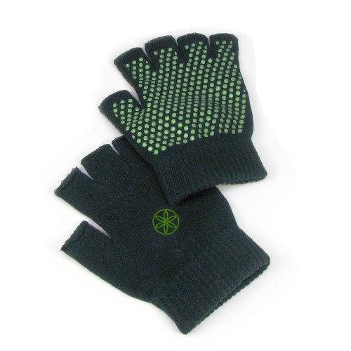 Gaiam Super Grippy Yoga Gloves, Fern Green, 1 pr
