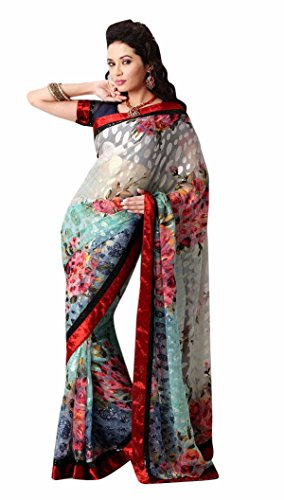 Triveni Indian Ethnic Saree Embroidered Multi (multicolor)