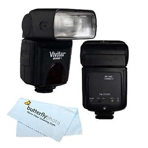 VIVITAR DEDICATED E-TTL SPEEDLIGHT BOUNCE ZOOM SWIVEL FLASH FOR CANON POWERSHOT G7 G9 G10 G11 G12 A640 A650 S5 IS S3 IS SX20 IS SX20 SX1 IS SX Includes Flash Diffuser + Free Mini Tripod + BP MicroFiber Cleaning Cloth