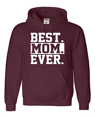 Large Maroon Adult Best Mom Ever #1 Mom World's Best Mom Mother's Day Sweatshirt Hoodie