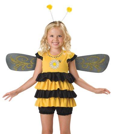 [InCharacter Costumes, LLC Girls 2-6X Sweet Bee Dress Set, Yellow/Black, Small] (Sweet Bee Girls Costumes)
