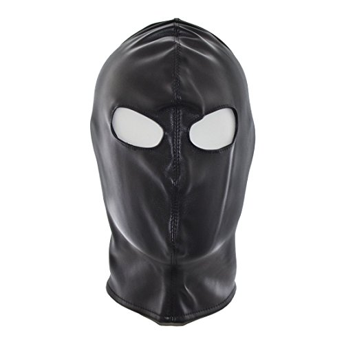 [FeiGu Black Bondage Gimp Mask Head Hood T10] (The Gimp Costume)