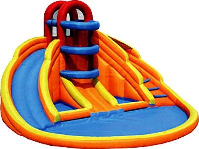 Big Blue Lagoon Inflatable Water Slide front-402232