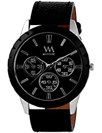 WATCH ME BLACK BROWN LEATHER ANALOG WATCH FOR MEN AND BOYS WM-062-BKBK