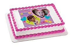 Doc McStuffins and Customer Photo Edible Image Cake Topper