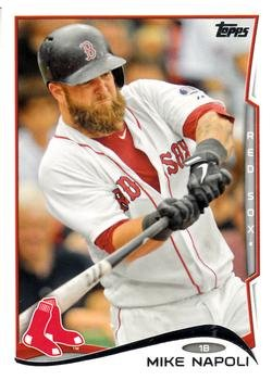 2014 Topps #473 Mike Napoli - Boston Red Sox (Baseball Cards)