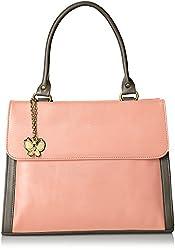 Butterflies Women's Handbag (Peach) (BNS 0569PCH)