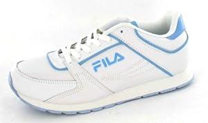 Fila - Zapatillas para niño, color blanco, talla 1 UK