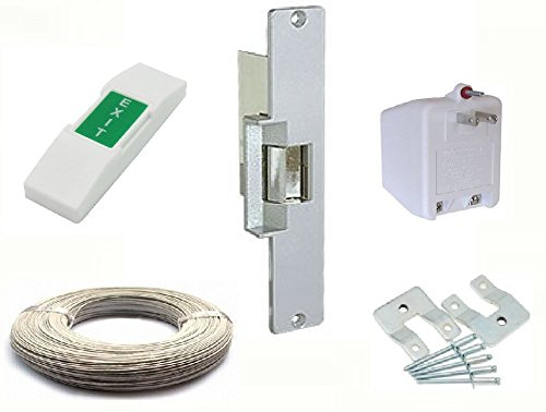 Electric Strike Door Lock Kit (For Wood Doors) Lock Set Includes All Standard Buzz In Lock Hardware For System Installation