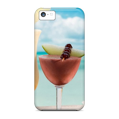 Premium Protection Food Drinks Tropical Cocktails Cases Covers For Iphone 5c- Retail Packaging