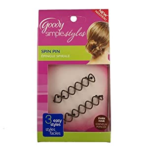 Goody Simple Styles Spin Pin Color: Blonde or Brunette