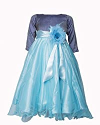 Softouch Girls' Frock (Blue_4-5 Years)