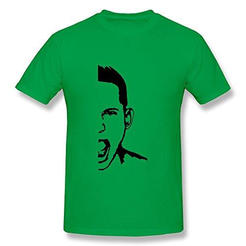 Hd-Print Men'S Tshirt Screamer Mouth Roar Xs Forestgreen