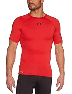 Under Armour Herren Top HG Sonic Compression Short Sleeve, Red, S