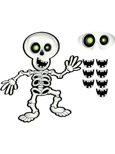 Amscan Pin-The-Smile-On-The-Skeleton, White/Black