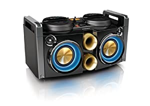Philips NTRX100/12 Mini Hi-Fi System (380 Watt RMS, NX Bass Dynamic Lighting) schwarz