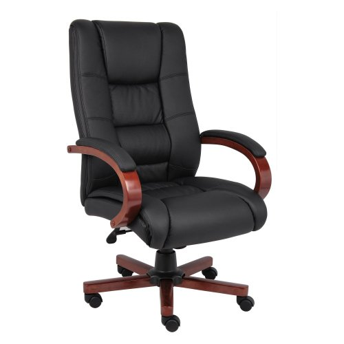 Boss B8991-C High Back Executive Wood Finished Chairs