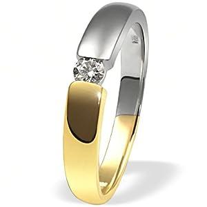 Goldmaid - So R509BI58 - Bague Femme - Or bicolore 585/1000 (14 ct) 4 Gr - Diamant 0.1 ct - T 58