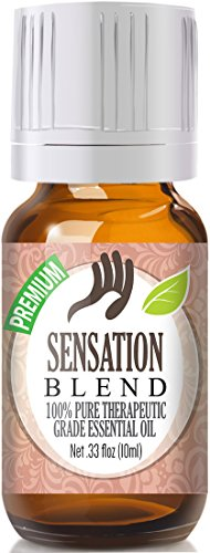 Sensation Blend 100% Pure, Best Therapeutic Grade Essential Oil - 10ml - Comparable to Young Livings Sensation - French Lavender, Ylang Ylang, Bergamot, Jasmine, Egyptian Geranium, Coriander