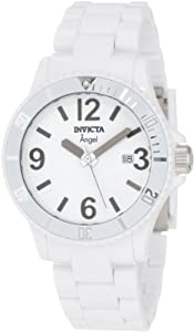 "Invicta Women's 1207 ""Angel"" White Plastic Watch"