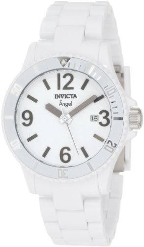 Invicta Women's 1207 Angel White Dial White Plastic
