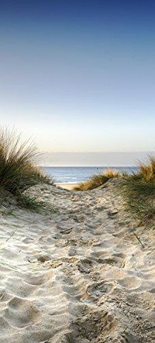 Türtapete eines Strands auf Rügen