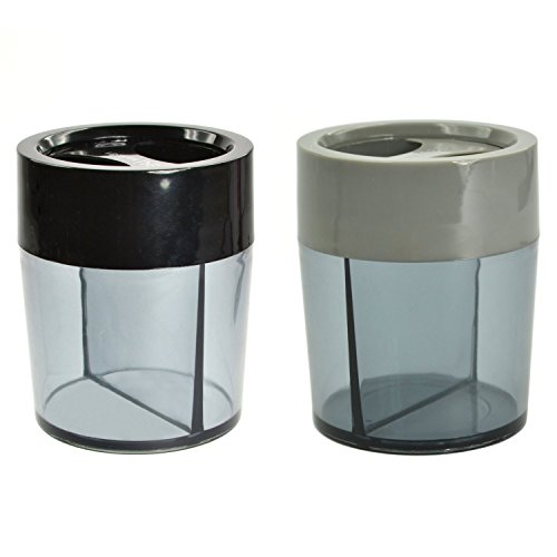 Coolrunner 2 PCS Gray and Black Magnetic Top Paper Clip Dispensers Holders Boxes (Paper Clip Holder compare prices)