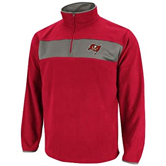 NFL Mens Tampa Bay Buccaneers Fade Route III Bright Cardinal Storm Gray Long Sleeve 1... by VF LSG