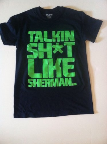 Seattle Seahawks Richard Sherman TALKIN SH*T LIKE SHERMAN Limited Edition Shirt Large at Amazon.com