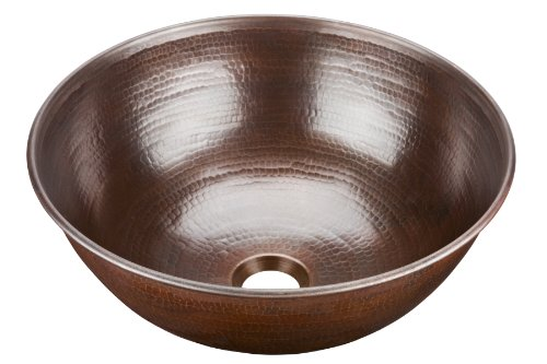 Cheap ECOSINKS BRV-1405BC Pinnacle Handmade Solid Copper Vessel, Aged Copper