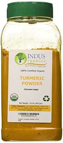 Indus Organic Turmeric (Curcumin) Powder Spice Pack 1 Lb, High Purity, Freshly Packed