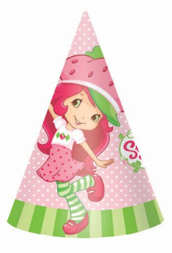 Strawberry Shortcake Party Hats 8 Count