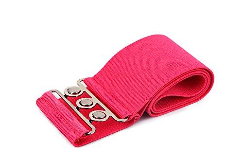 Tedim - 3 Inch Wide Elastic Waist Belt with Metal hook buckle fastening 50