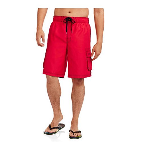 ocean-pacific-op-mens-tugger-board-shorts-swimming-trunks-regular-big-mens-x-large-red-rover