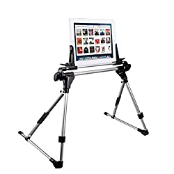 Light Weight Portable Foldable Adjustable Folding Bed Table Stand For Tablet PC Cellphone/Mobilephone Such as Samsung Apple ipad ipad mini iphone and so on