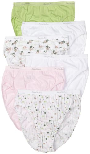 Fruit of the Loom 6pk Cotton Assorted Hi-Cut Panty