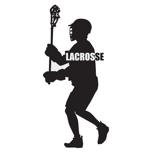 Lacrosse Player Sport Removable Vinyl Wall Decal 10