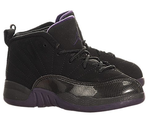 outlet store 43e56 d3236 Jordan XII (12) Retro (Toddler) - Black   Grape Purple-Aquamarine, 7 M US
