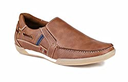 Mactree Mens Tan Artificial Leather Casual Sneakers 0121-6