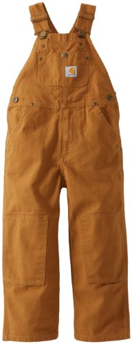 Carhartt Little Boys' Washed Bib Overall,Carhartt Brown,3T front-192335