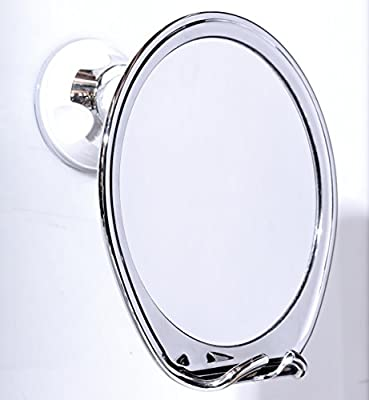 Fogless Shower Mirror with Razor Hook Fog Free Shaving, Powerfull Locking Suction Cup, Perfect for Shaving in the Shower!