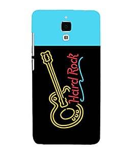 printtech LED Hard Rock Guitar Back Case Cover for Xiaomi Redmi Mi4::Xiaomi Mi 4