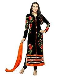 Black Georgette Pakistani Suit Salwar Suit