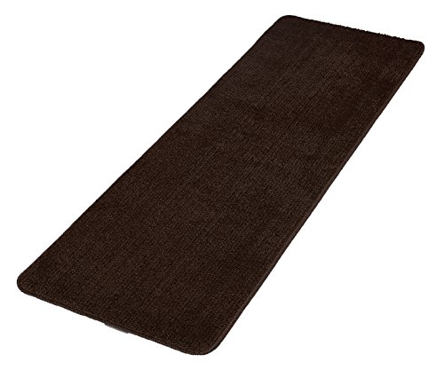 Softy collection chocolate brown color solid mat rug plain soft quality bath mats washable for Chocolate brown bathroom rugs