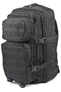 Mil-Tec Military Army Patrol MOLLE Assault Pack Tactical Combat Rucksack Backpack Bag 50L Black