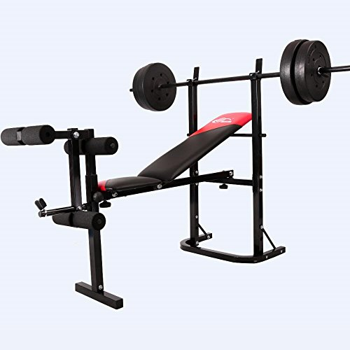 SL Gym Equipment Weight Lifting Bench Leg Press Machine Body Building Exercise Olympic Incline Decline Bench (Machine Bench Press compare prices)