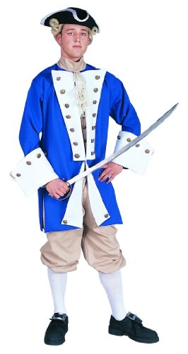 Blue Colonial Captain Costume