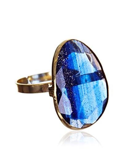 My Silver Anello Luxury Montana Blu