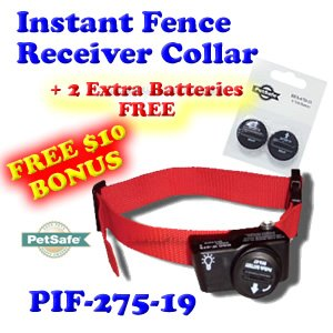pif wireless fence dog collar