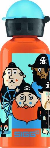 Sigg Pirate Crew Water Bottle, Orange, 0.4-Liter front-542456